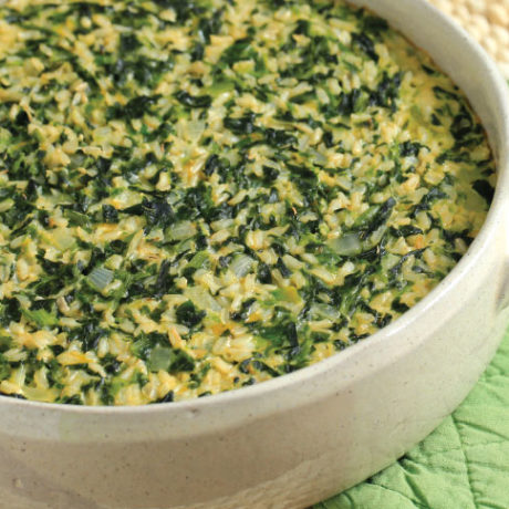 Image of Cheesy Spinach and Rice