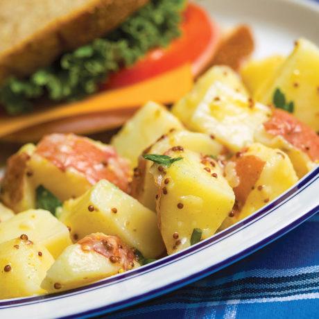 Potato salad with mustard