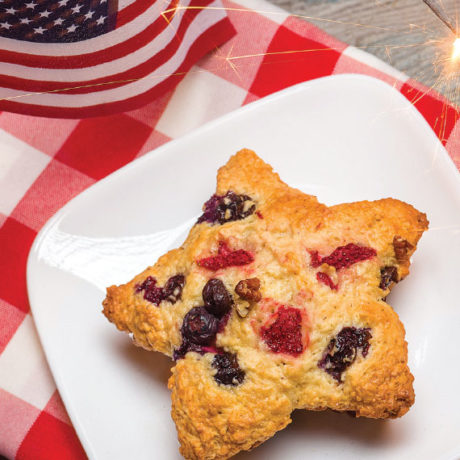 Image of Red, White and Blueberry Muffins