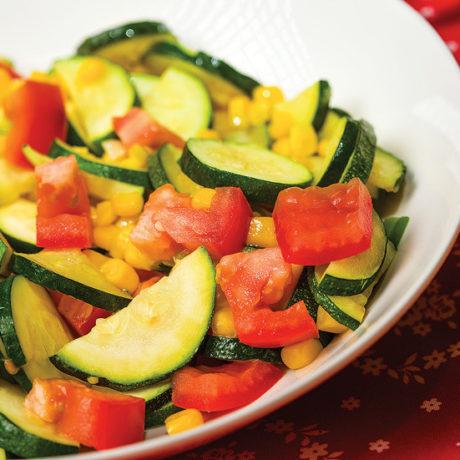Zucchini and corn