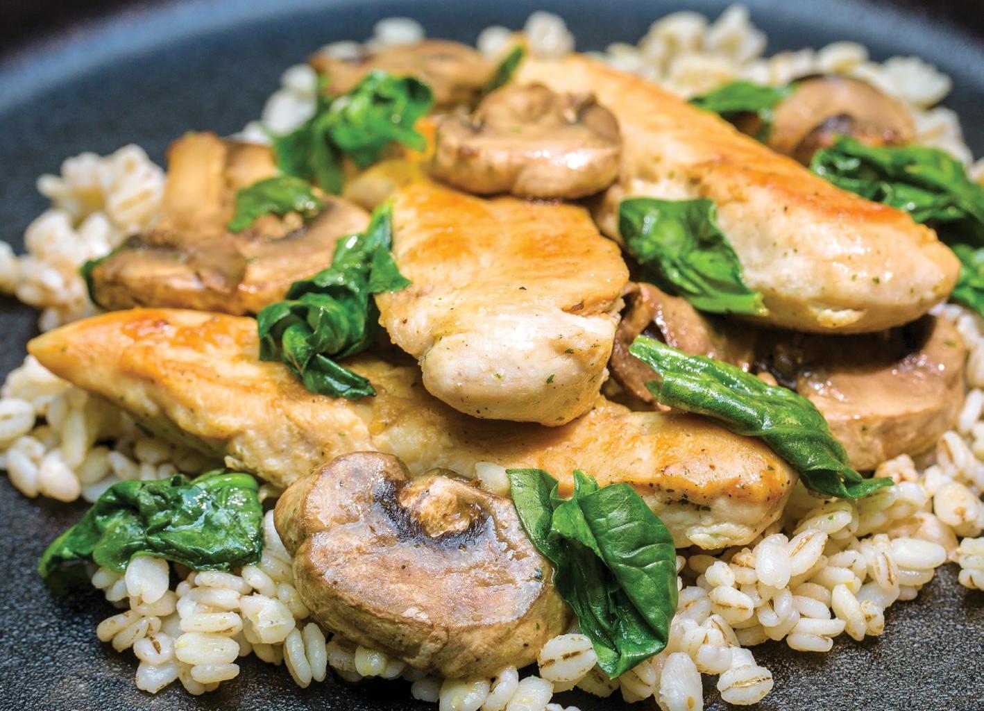 Chicken and Ranch Mushrooms