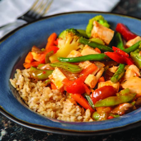 Image of Easy Chicken and Veggie Stir-Fry with Rice
